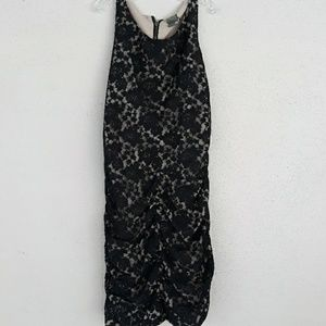 Taylor's black lace over nude lining dress size 12